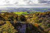 Somerset Levels from Ebbor Rock, UK — Stock Photo