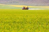 Crop sprayer in a field — Stock Photo