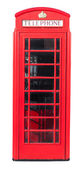Red Telephone Box on White — Stock Photo