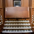 Church Organ Console — 图库照片