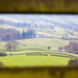 Yorkshire Dales Framed by Gate — Stock Photo