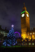 Big Ben on a Christmas Night — Stock Photo
