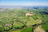 Wide Angle, Aerial View of British Countryside — Stock Photo