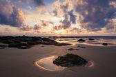 Cornish Beach at Sunset — Stock Photo