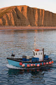 Trawler at West Bay, Dorset — Stock Photo