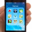 Stock Photo: Games on an Apple iPhone 4s