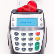 Bank Card in Chip and Pin Machine — Stock Photo