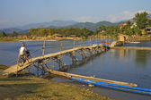 Bridge over Nam Xong River, Vang Vieng — Stock Photo