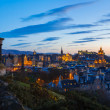 Edinburgh Twilight Skyline — Stock Photo
