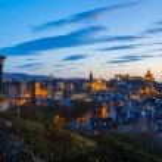 Edinburgh Twilight Skyline — Stock Photo #43431321