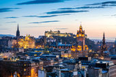Edinburgh Evening Skyline HDR — Stock Photo