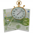 3D Time is money — Stock Photo