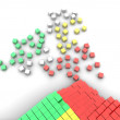 Stock Photo: Colorful cubes