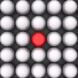 Red ball of white balls — Stock Photo