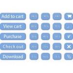 Online shop button — Stock Photo