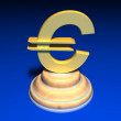 Gold euro sign — Stock Photo