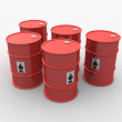 Red barrel — Stock Photo