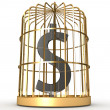 Dollar in cage - Stock Photo