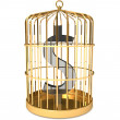 Dollar in cage — Stock Photo