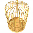 Stock Photo: Golden cage
