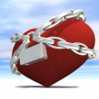 Heart wrapped with chains — Zdjęcie stockowe #22534645