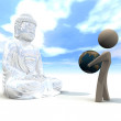 Budda and people - Stock Photo