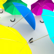 Color umbrellas — Stock Photo