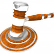 Stock Photo: Wooden gavel