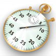 Stock Photo: Golden stopwatch