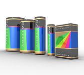 电池 — 图库照片