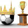 Award with the ball and with a crown — Stock Photo