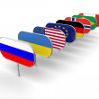 Image certain types of flags — Stock Photo