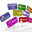 Internet and social media icon — Stock Photo