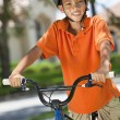 African American Boy Child Riding Bike — Stock Photo #21588829