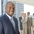 African American Man Businessman & Business Team — Stock Photo