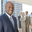 Stock Photo: African American Man Businessman & Business Team