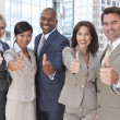 Royalty-Free Stock Photo: Interracial Men & Women Business Team Thumbs Up