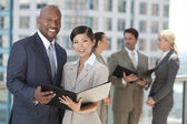 Interracial Men & Women City Business Team — Stock Photo