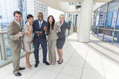 Interracial Men & Women Business Team With Tablet Computer — Photo