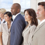 Interracial Men & Women Business Team — Stock Photo #21590057