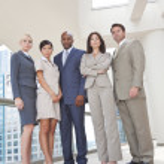 Interracial Men & Women Business Team — Stock Photo #21590021