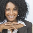 Beautiful Smiling African American Woman Businesswoman — Stock Photo #21599521