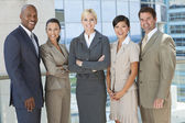 Interracial Men & Women Business Team — Foto Stock