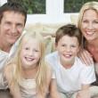 Happy Family Having Fun Sitting At Home — Stock Photo