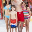 Stock Photo: Mother Father Son Daughter Child Family Water Park