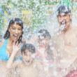 Mother Father Son Daughter Child Family Water Park - Foto de Stock  
