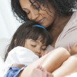 African American Woman Child Mother Daughter — Stock Photo