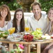 Parents Children Family Healthy Eating Outside — Stock Photo #21645433
