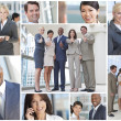 Stock Photo: Montage of Modern Business Teams and