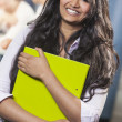 Beautiful Young Asian Indian Girl Student — Stock Photo